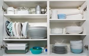 Kitchen cupboard after KonMari decluttering