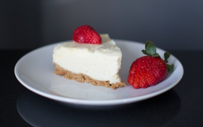 Easy white chocolate cheesecake