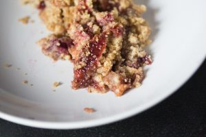 Apple raspberry crumble recipe   Mother Bird blog